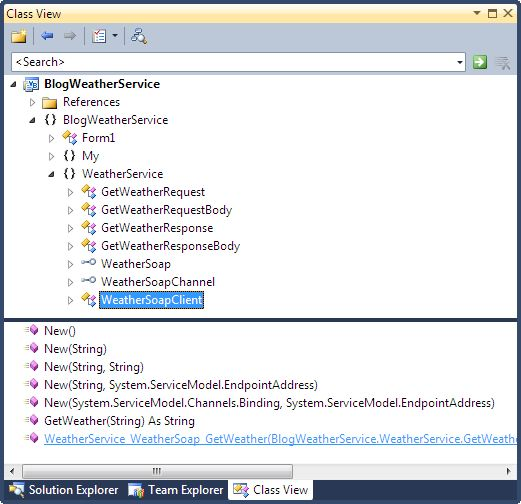Adding a Web Reference in Visual Studio 2010 (Part 2