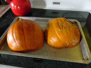Fork tender is done enough for chunky pumpkin