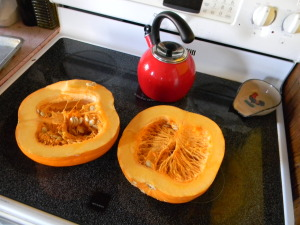 Raw Pumpkin halves