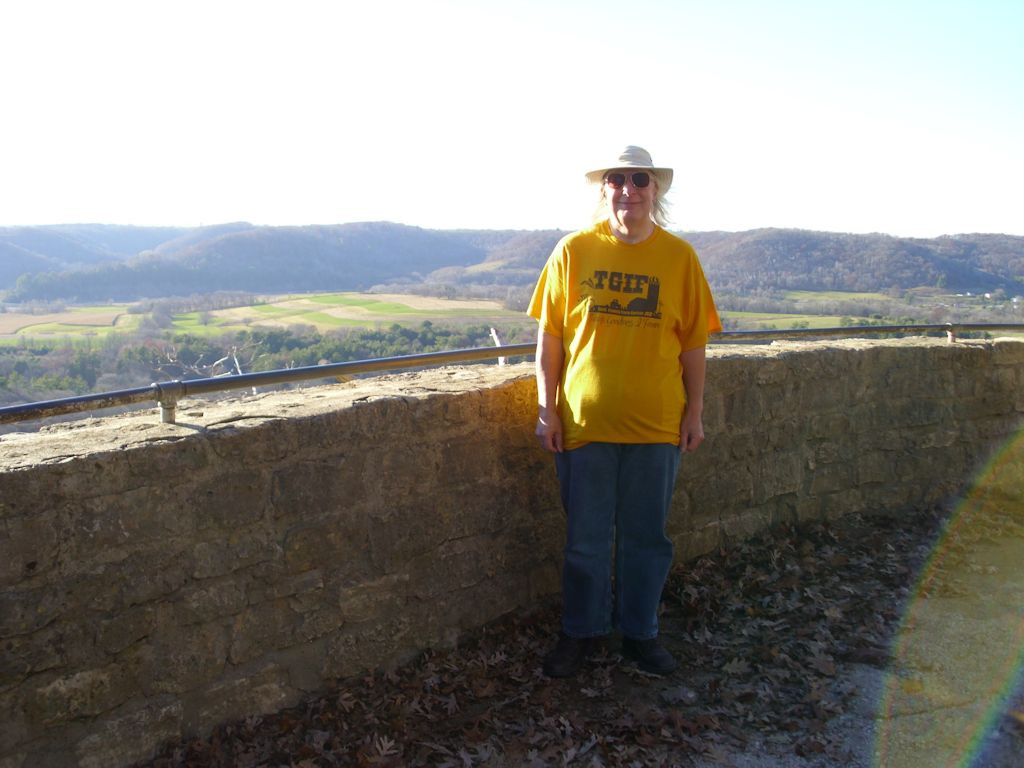 John standing at observation point in Wildcat Mountain.