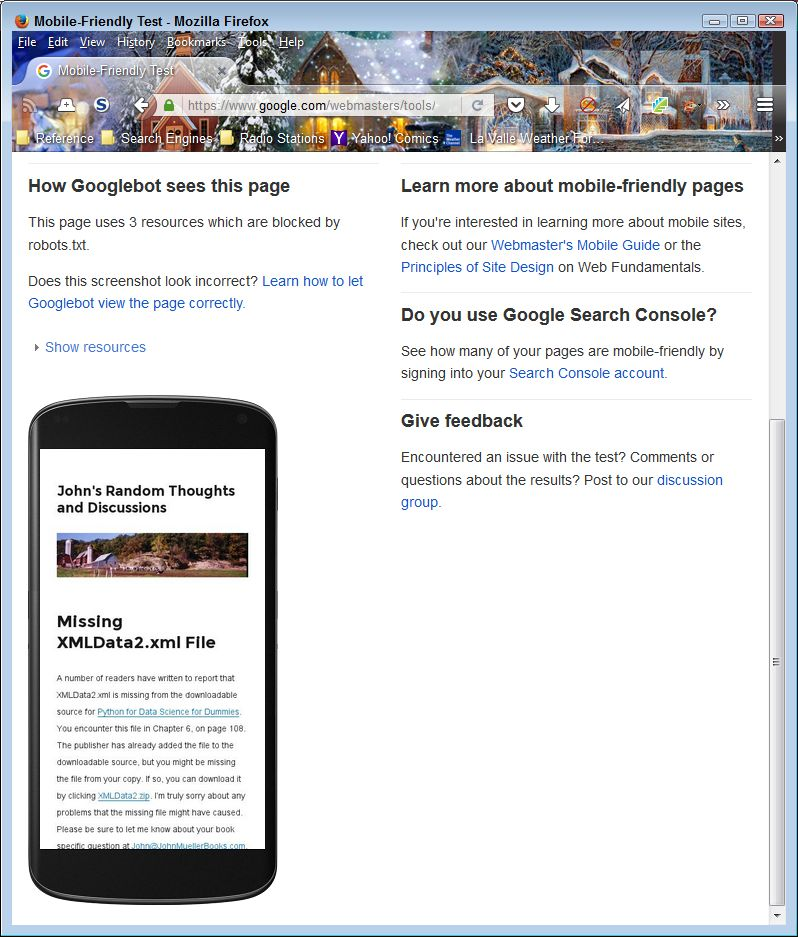 Mobile users may see something different than you expect, even when your site is mobile friendly.
